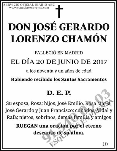 José Gerardo Lorenzo Chamón